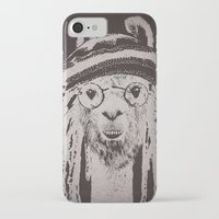 funky iPhone & iPod Cases featuring Funky Llama by Paula Belle Flores