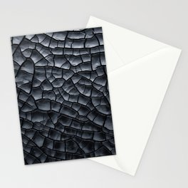 Gothic texture | Black and grey texture | Cracked design Stationery Cards