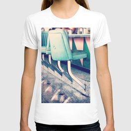 Retro Diner Photograph, kitchen art, restaurant decor, shabby chic, vintage, pastels, mint and pink T-shirt