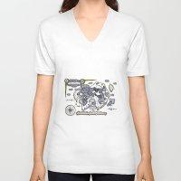 neverland V-neck T-shirts featuring Neverland Illustration  by Mark Karwowski