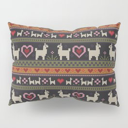 Llama Love Knit Pillow Sham