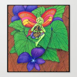 Fairy and Bee Canvas Print
