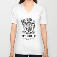 agents of shield V-neck T-shirts featuring Shield by J Evan