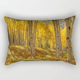 Autumn Aspen Forest in Aspen Colorado USA Rectangular Pillow