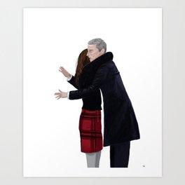 Not a Hugging Person Art Print