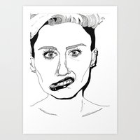 miley Art Prints featuring Miley  by ☿ cactei ☿