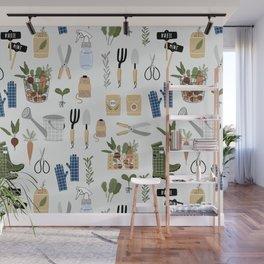 Kitchen Garden Pattern Wall Mural
