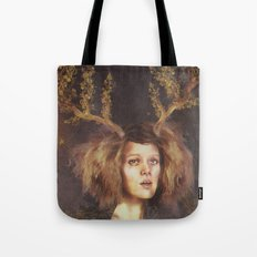 The Golden Antlers Tote Bag