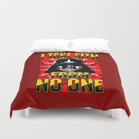 sith Duvet Covers featuring Don't Take No Sith!  |  Darth Vader by Silvio Ledbetter