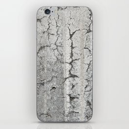 Urban Texture Photography - White Painted Asphalt iPhone Skin