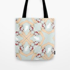 Tea and Cat Pattern Tote Bag