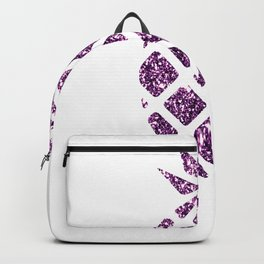 Colorful Pineapples Purple Backpack