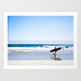 a Day at the Beach 2 Art Print