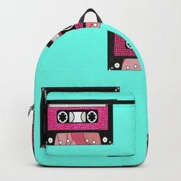 Pink floral cassette print Backpack