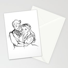 Marius and Cosette Stationery Cards