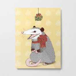 Christmas Kiss Metal Print