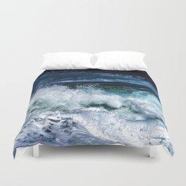 Dark Blue Waves Duvet Cover