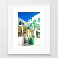 greek Framed Art Prints featuring Greek by Gaby Arauz