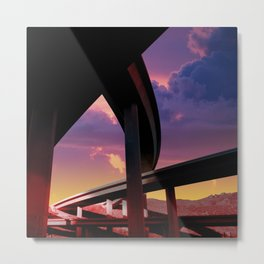 Sci-Fi Freeway Metal Print