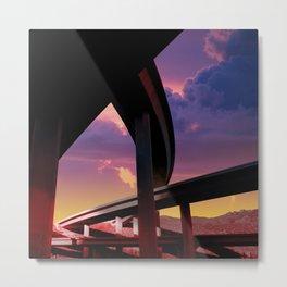 Sci-Fi Freeway Metal Print