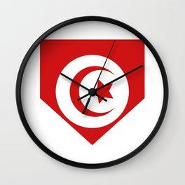 Tunisia flag Wall Clock