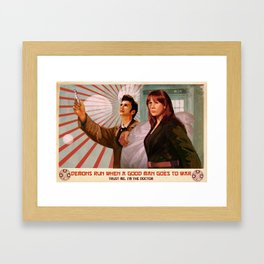 Doctor Who Propaganda Poster Framed Art Print