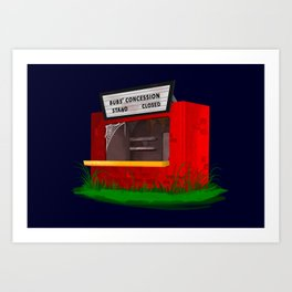 Bubs' Concession Stand - Closed Art Print