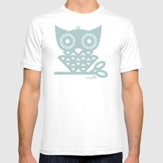 Blue Hoot Mens Fitted Tee White MEDIUM