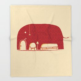 Elephanticus Roomious Throw Blanket