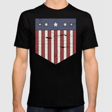 Flag Black LARGE Mens Fitted Tee