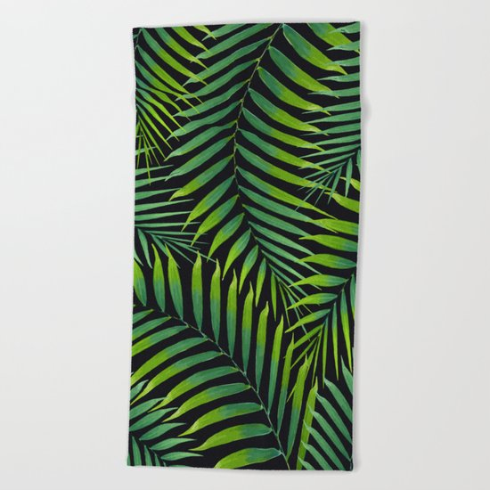 Palm leaves VII Beach Towel