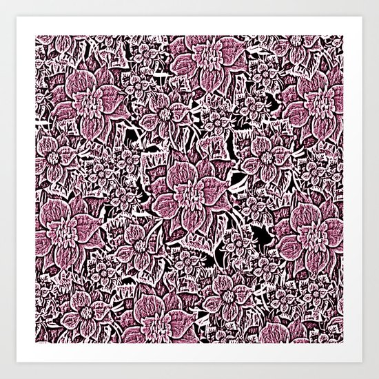 Wildflowers (Blushing Magenta) Art Print