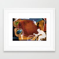 cycling Framed Art Prints featuring Cycling by Robin Curtiss