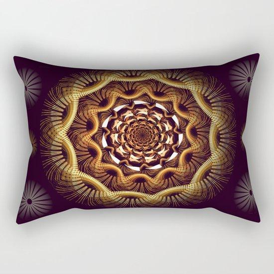 Golden curves and tribal patterns Rectangular Pillow