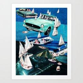 Ocean Roads Art Print