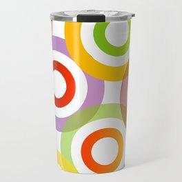 Colorful circles in vibrant colors Travel Mug