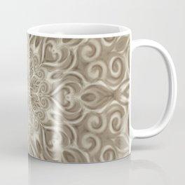 Beige swirl mandala Coffee Mug