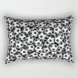 Soccer Balls Rectangular Pillow