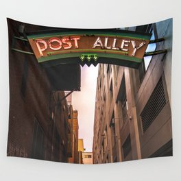 Post Alley in Seattle Washington Wall Tapestry