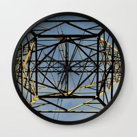 the wire Wall Clocks featuring Metal Wire by Lia Bernini