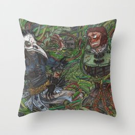 Magnus and the Raven Throw Pillow