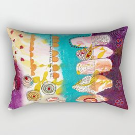 Doodle Me Happy Rectangular Pillow