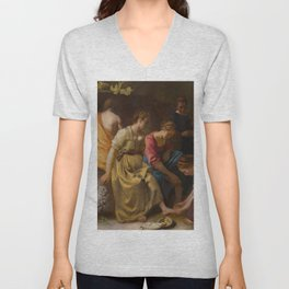 "Johannes Vermeer ""Diana and her Companions"" Unisex V-Neck"