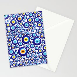 Evil eye pattern Stationery Cards