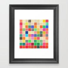 colorquilt 2 Framed Art Print