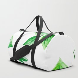 Watercolour Ferns And Vines Leafy Green Continuous Pattern Duffle Bag