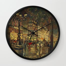 A Night in Paris Wall Clock