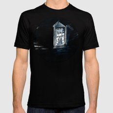 She Lived Here Once MEDIUM Mens Fitted Tee Black