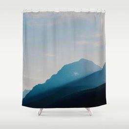 The Mountains int he Fog (Color) Shower Curtain
