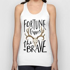 Fortune Favors the Brave Unisex Tank Top